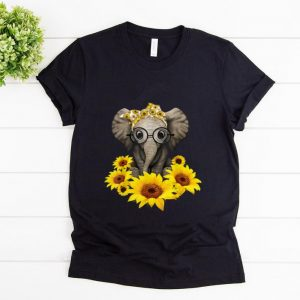 Pretty Sunflower Headband Elephant shirt