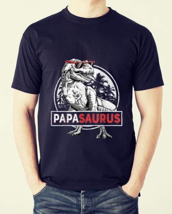 Pretty T rex Papa Saurus Dinosaur Sunglass shirt