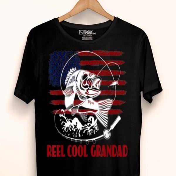 Reel Cool Grandad Fishing Father's Day Papa Dad shirt