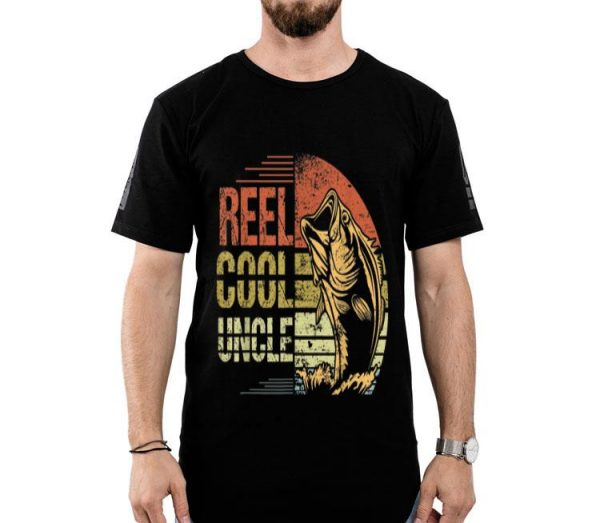 Reel Cool Uncle Fishing Sunset Father's Day shirt