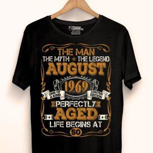 The Man Myth Legend 50th Birthday Vintage August 1969 shirt