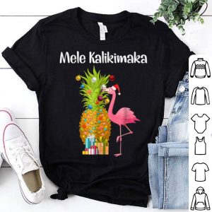 Top Mele Kalikimaka Pineapple Flamingo Halloween Gift shirt