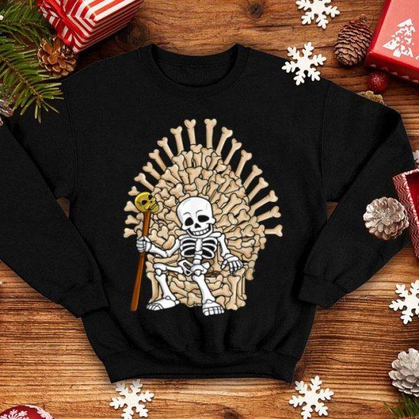 Top Skeleton Bones Throne Funny Halloween shirt