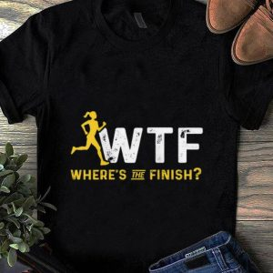 Top Where's The Finish Wtf Womens Running shirt