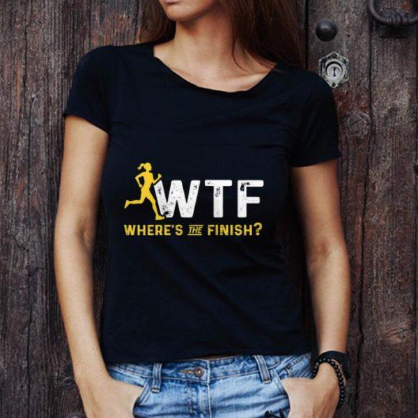 Top Where's The Finish Wtf Womens Running shirt