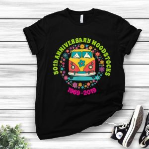 Top Woodstocks 50th Anniversary Peace Bus 1969 2019 shirt