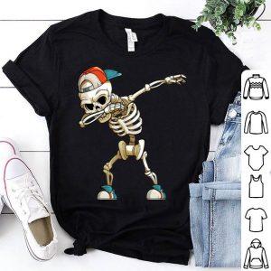 Awesome Halloween Dabbing Skeleton Funny Halloween Dab Kid shirt