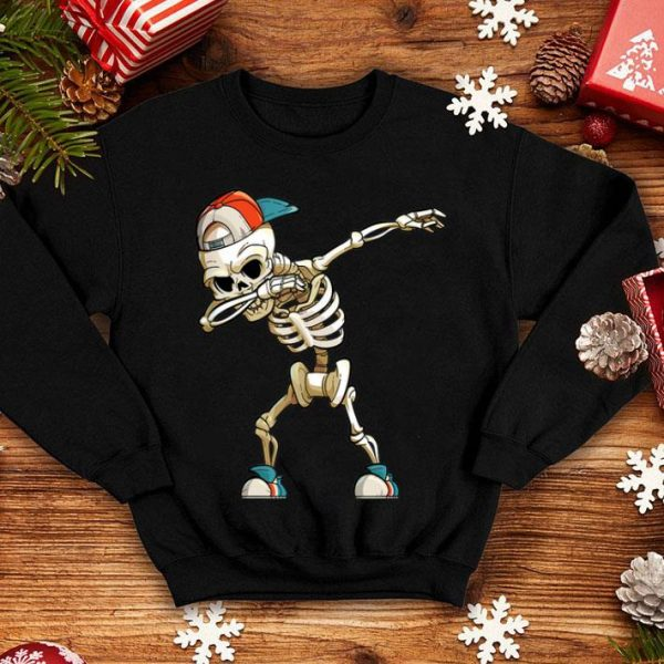 Awesome Halloween Dabbing Skeleton Funny Halloween Dab Kid shirt