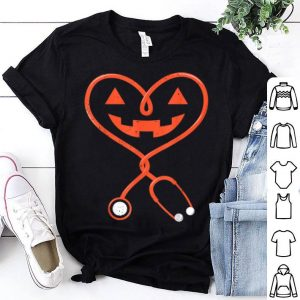 Awesome Nurse Halloween Costume For Women Pumpkin Outfit Funny shirt