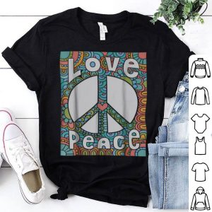 Awesome PEACE SIGN LOVE 60s 70s Tie Die Hippie Costume shirt