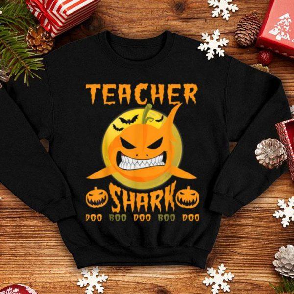 Awesome Teacher Halloween Teacher Shark Doo Boo Boo shirt