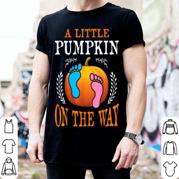 Beautiful Pregnancy Announcement Pumpkin Halloween Party Costume shirt