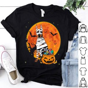 Doberman Dog With Candy Pumpkin Halloween shirt