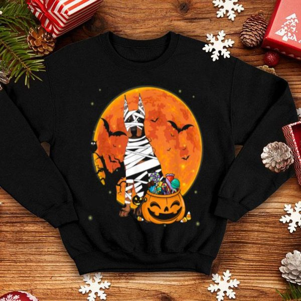 Doberman Dog With Candy Pumpkin Halloween shirt