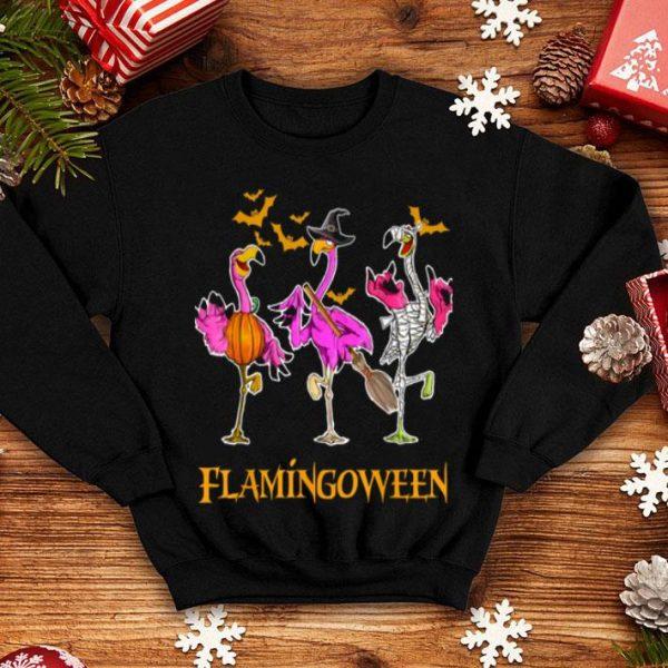 Flamingo Happy Halloween Cute Mummy Witch shirt