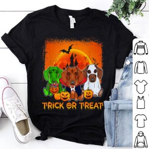 Funny Halloween Dachshund Trick Or Treat Dachshund Gift shirt