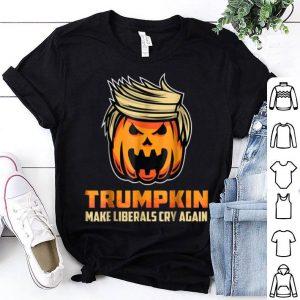 Funny TRUMPKIN - Make Liberals Cry Again Funny Halloween shirt