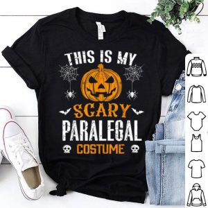 Funny This Is My Scary Paralegal Halloween Costume shirt