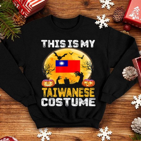 Funny This Is My Taiwanese Flag Costume Halloween Taiwan shirt