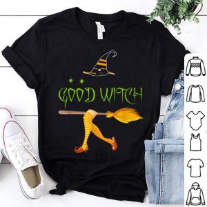 Good Witch Halloween With Hat Broom Of Witch shirt