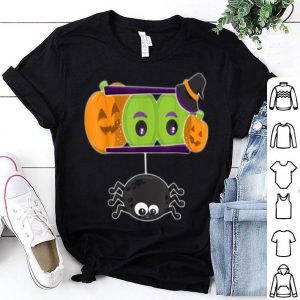 Happy Halloween Spooky Pumpkins Eyes Orange Pumpkin Spider shirt