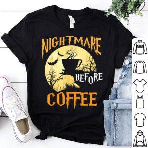 Hot Cute Nightmare Before Coffee Halloween Funny Mug Gift shirt