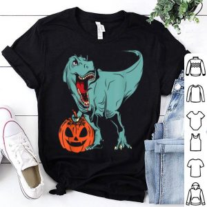 Hot Halloween Pumpkin Dinosaur Trex shirt