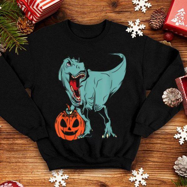 Hot Halloween Pumpkin Dinosaur Trex shirt