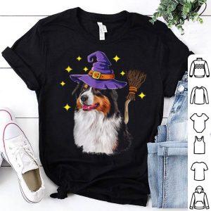 Mens Australian Shepherd Halloween Witch Costume Gift shirt