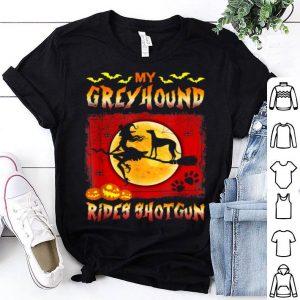 My Greyhound Rides Shotgun Halloween shirt