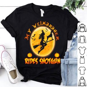My Weimaraner Dog Rides Shotgun Halloween Costume shirt
