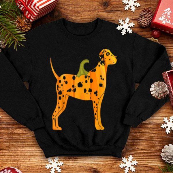 Nice Dalmatian Halloween Dog Pumpkin Women Dog Owners Gifts shirt