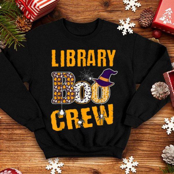 Nice Halloween Library Boo Crew Teacher Pumpkins shirt