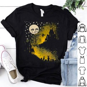 Nice Sweet N' Spooky Vintage Style Halloween Moon, Witch shirt