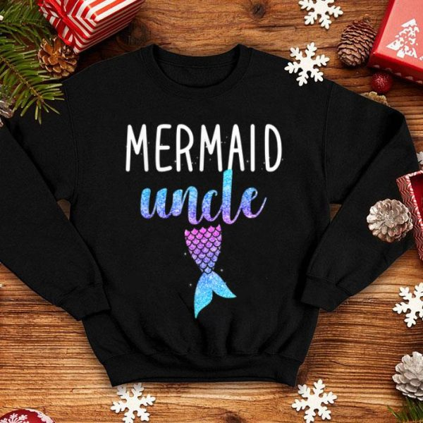 Official Mens Mermaid Uncle Mermaid Birthday Party Gift for Men shirt