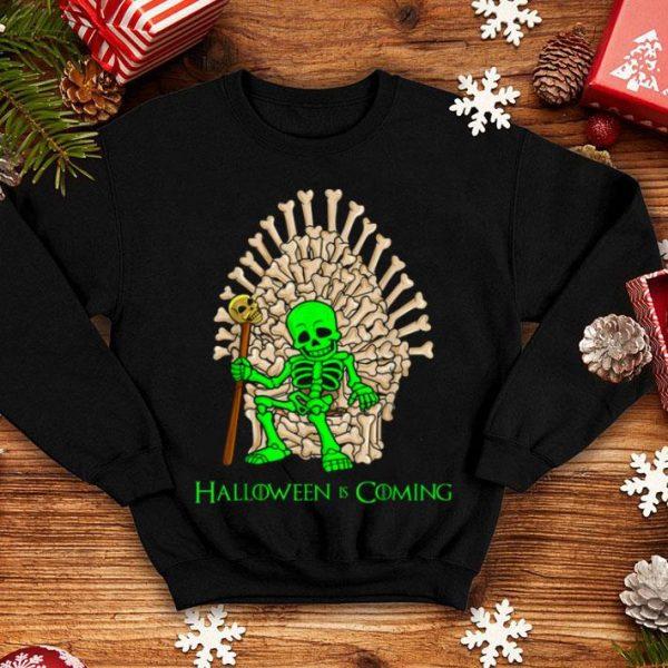 Official Skeleton Bones Throne Halloween shirt