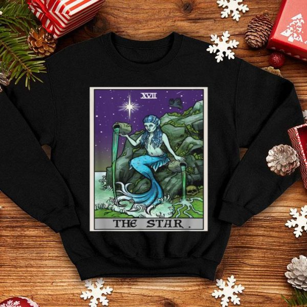 Official The Star Tarot Card Halloween Mermaid Witch Creepy Siren shirt
