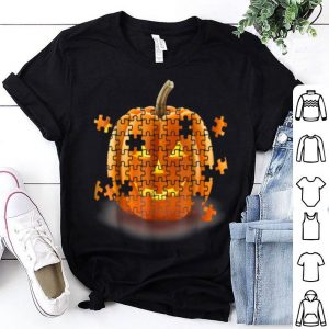 Original Autism Awareness Pumpkin Piece Puzzle Halloween shirt