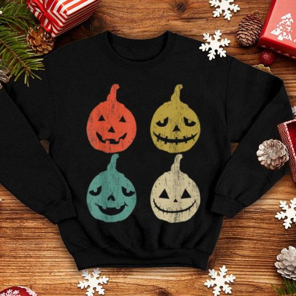 Original Vintage Jack O Lantern Face Halloween Pumpkin Funny shirt