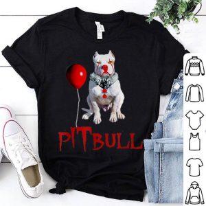 Original We All WOOF Down Here Clown Dog Pitbull shirt