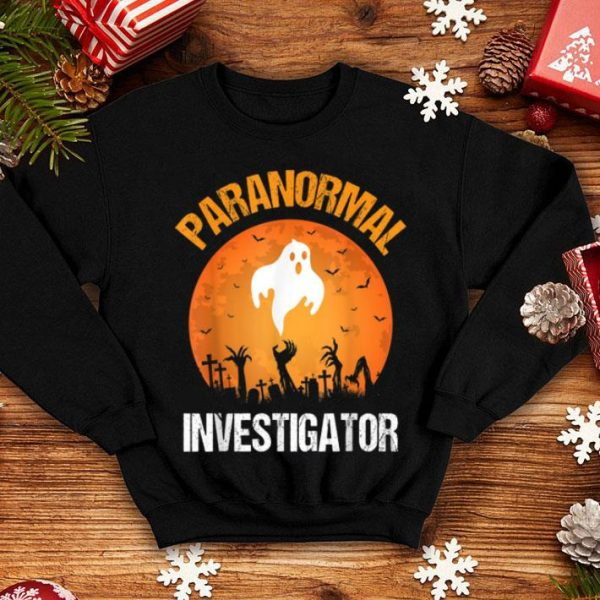 Paranormal Investigator Funny Halloween Party Costume shirt
