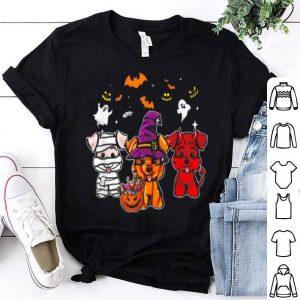 Premium Funny Three Schnauzer Halloween gifts shirt