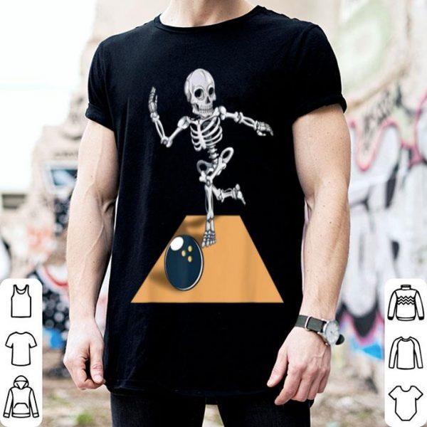 Skeleton Bowling Bowler Halloween shirt