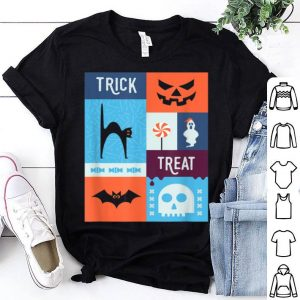 Spooky Halloween Trick Or Treat Cat & Bat shirt