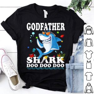 Top Godfather Shark Doo Doo Funny Baby Mommy Kids Video shirt