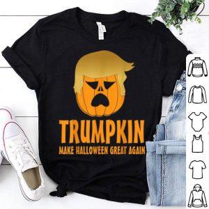 Top Halloween Trumpkin Funny Make Halloween Great Again. shirt