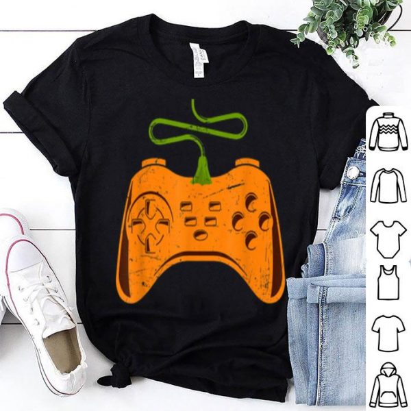 Video Game Pumpkin Halloween Funny Costume Gamer shirt