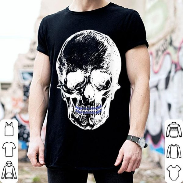 Awesome Creepy Skull With Braces Cool Halloween shirt