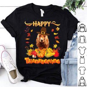 Awesome Happy Thanksgiving English Cocker Spaniel Dog I'm Thankful shirt