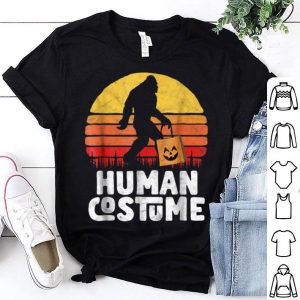Awesome Human Costume Bigfoot Funny Halloween Trick or Treat shirt